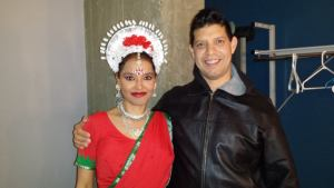 Backstage with my friend Amrita before her show