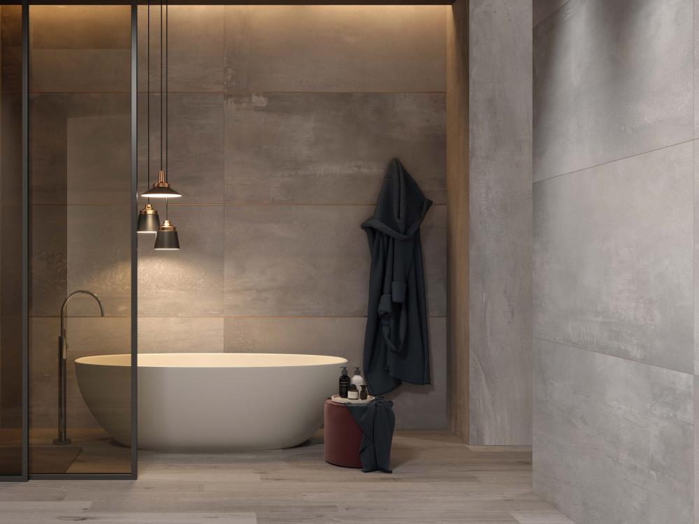 carrelage salle de bains grand format