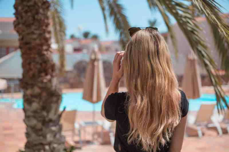 travel with tape in hair extensions