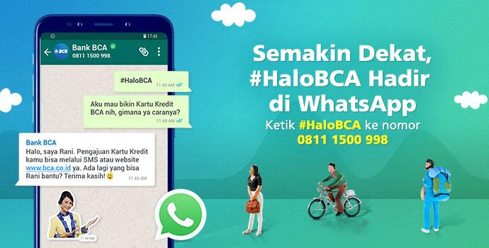 Nomor Whatsapp Bank BCA - Halo BCA