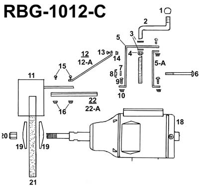 PARTS FOR RBG-1012C