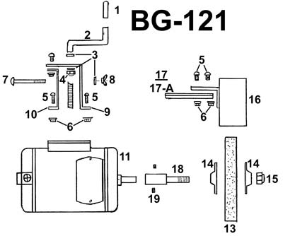 PARTS FOR RBG-121