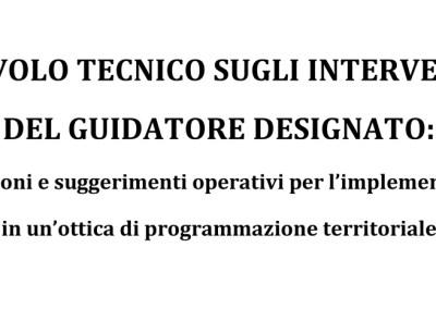 Tavolo Tecnico sugli Interventi del Guidatore Designato, 2011.