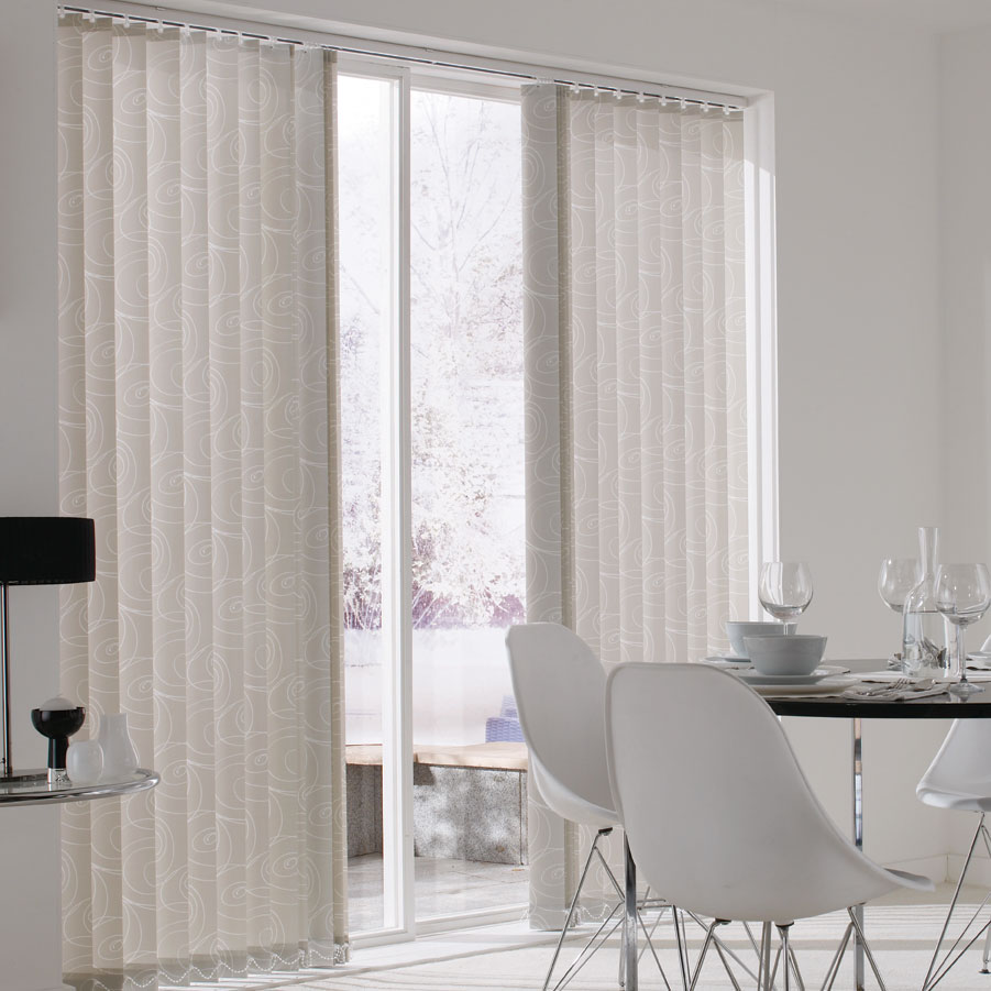 Vertical blinds from Alams beautiful blinds