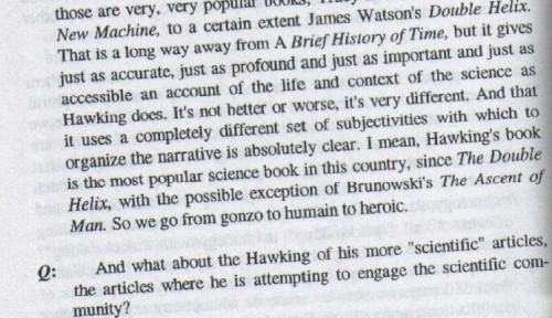 Questioning Steven Hawking's Scientific Discourse, by Marc