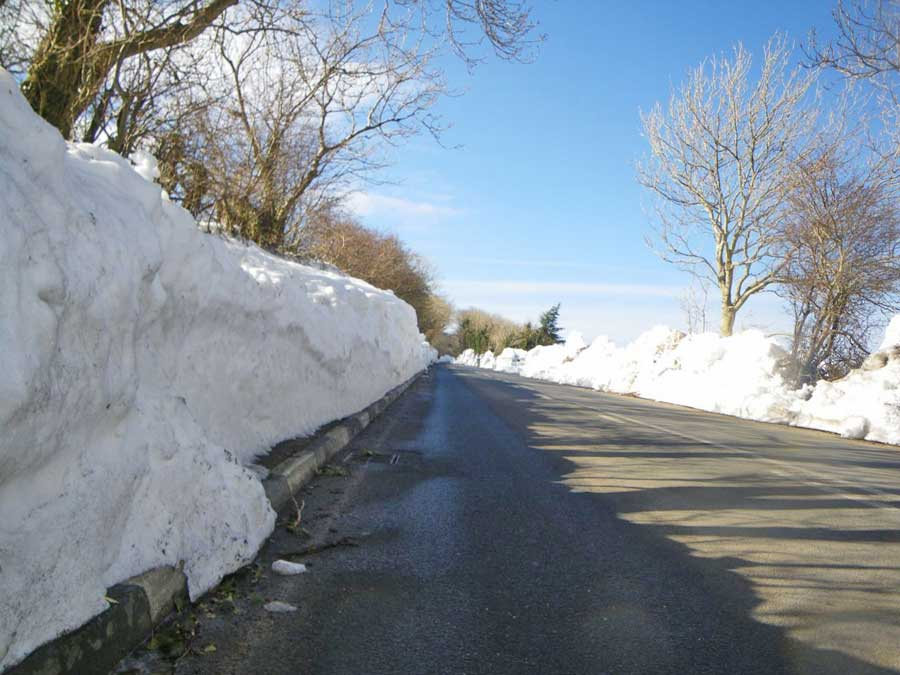 Snow Lined Roads