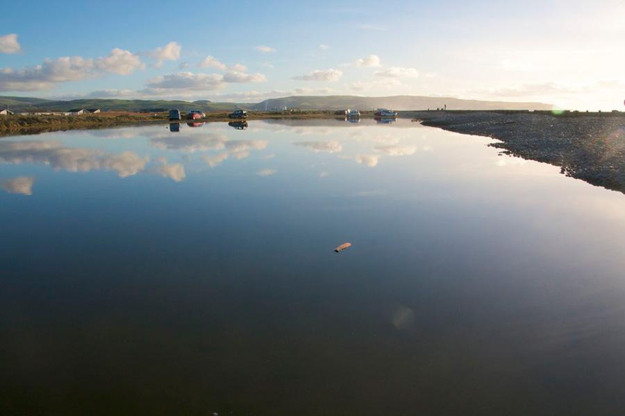 Reflections in Ynyslas Lake
