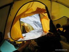 Looking out my tent