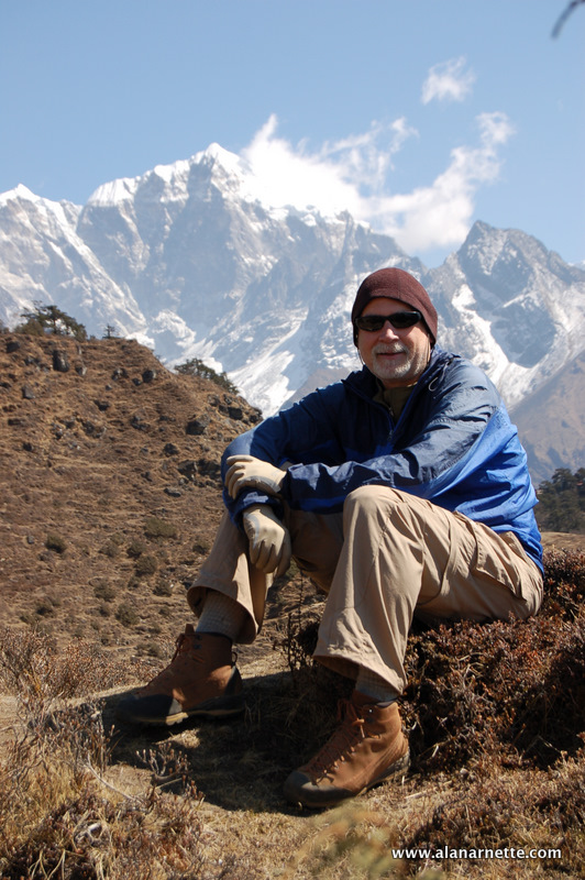 Alan trekking to Everest