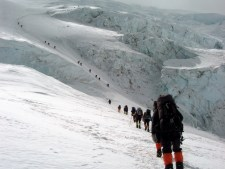 Climbing the Lhotse Face in 2002