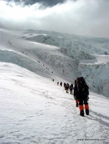 Climbing the Lhotse Face in 2002