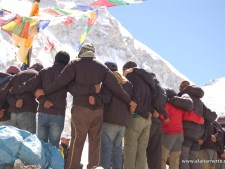 Sherpas at Puja