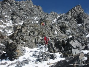 Down Climbing K2 Black Pyramid