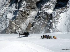 Rescue helicopters in the Western Cwm at Camp 1, 19,500 feet.Rescue helicopters in the Western Cwm at Camp 1, 19,500 feet.