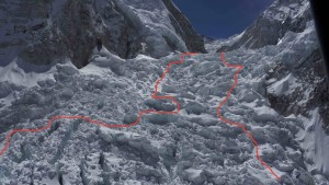 2015 Icefall route