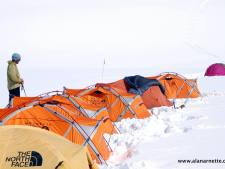 Camp 2 at 7100m or 23,300 feet on Shishapangma (26,335 feet 8,027 meters) in 2007.