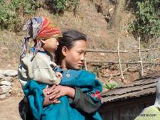 Mother and Daughter in the Khumbu