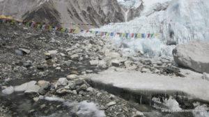 Running Stream at Everest 2016 Base Camp