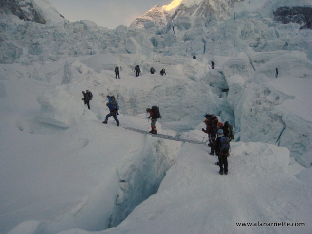 Sherpas in Icefall