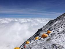 Camp 3 at 8300 meters on Everest North Side. courtesy of Transcend Adventures