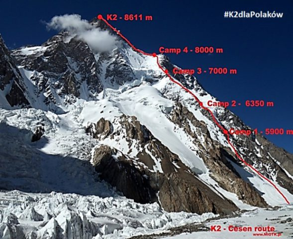 K2 Česen Route aka Basque Route