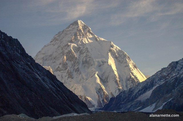 K2 from Concordia 2014 by Alan Arnette