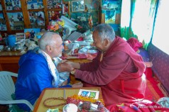 Alan and Lama Geshi during a blessing