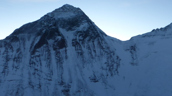 Clear view of Everest, Nepal side, while fFixing the route on 2018 Nuptse by Prakash Sherpa