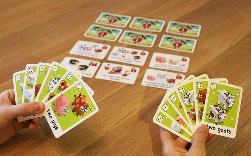 "The third game of Alana's animals, ""Every animal counts!"""