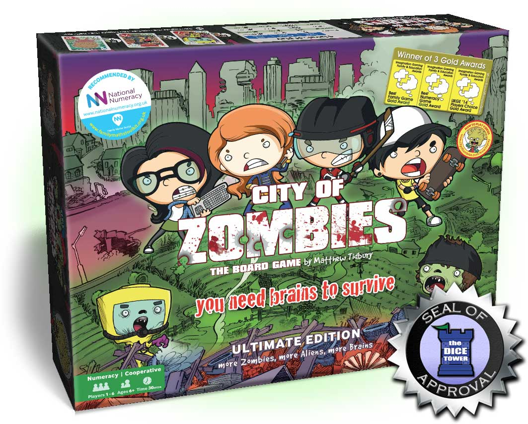 The City of Zombies maths board game