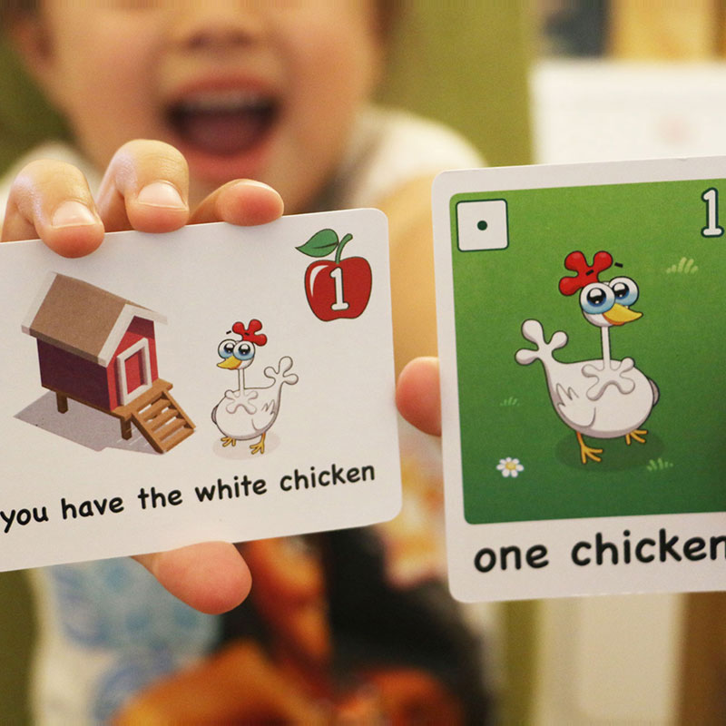 Two cards with white chickens!