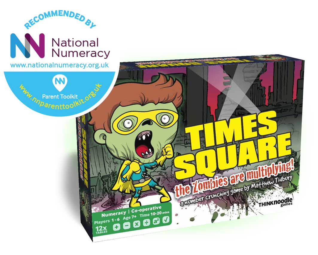 Times Square times tables maths card game