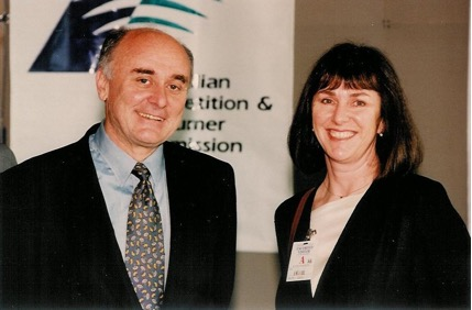 At Parliament House with the Chairman, Prof Allen Fels, the day the ACCC came into being in 1995