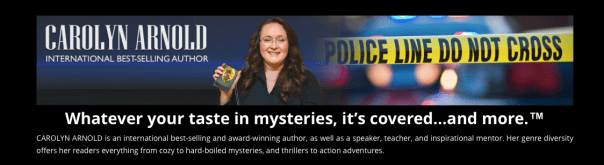 Carolyn Arnold website banner