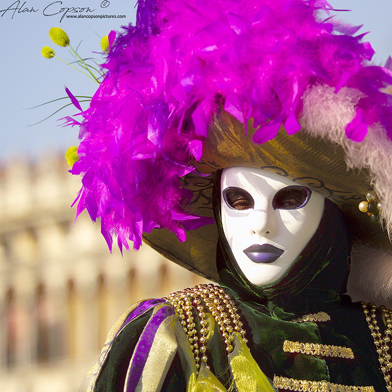 Italy Venice St Mark's Square Carnival Traditional carnival costume