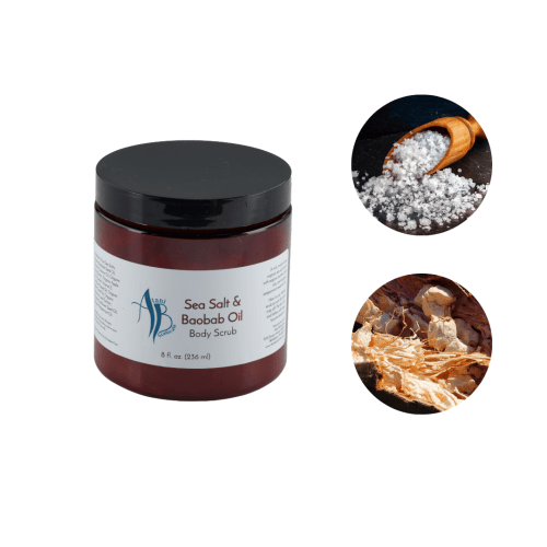sea salt baobab oil body scrub