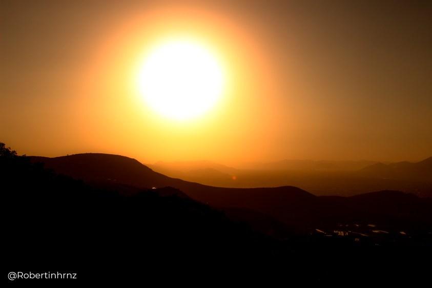 Puesta de sol en Fray Francisco, Hidalgo, México