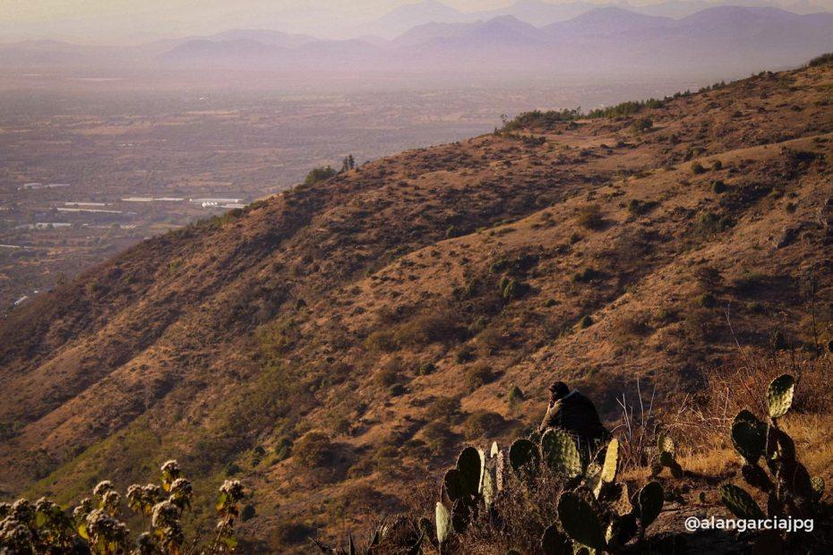 Atardecer en montañas de El Arenal