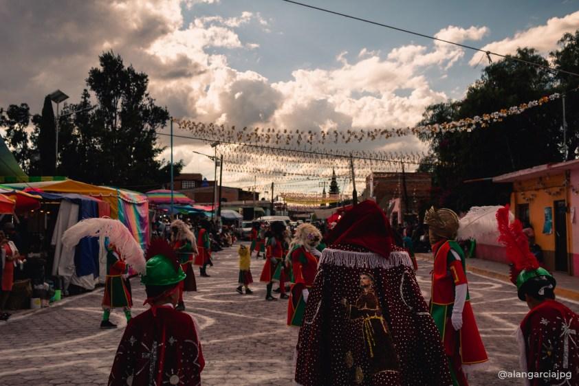 Fiestas patronales en San Francisco Mazapa, Estado de México.