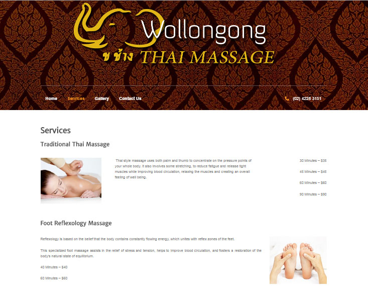 Wollongong Services Page