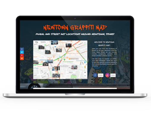 Newtown Graffiti Map