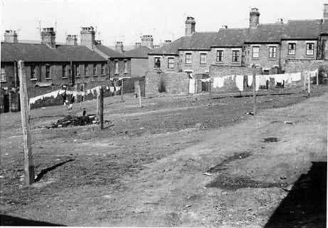 Taken in the early 60s, this photo shows the 'square' and in the distance, Albert Street, where I was born.