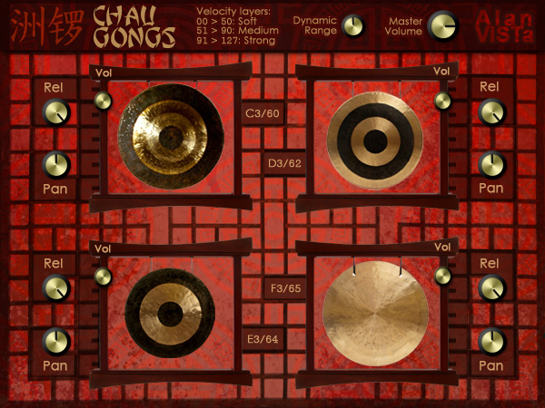 Chau Gongs - Free VST chinese gongs