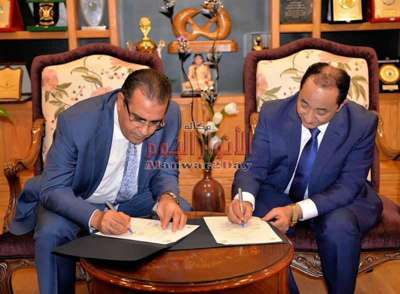 توقيع برتوكول تعاون بين جامعة المنصورة وجامعة العريش
