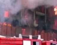 أصابة28شخص بحريق مصنع زبادى الاسكندرية