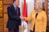 قــبــاج تستقبل السفير الامريكى بالقاهرة