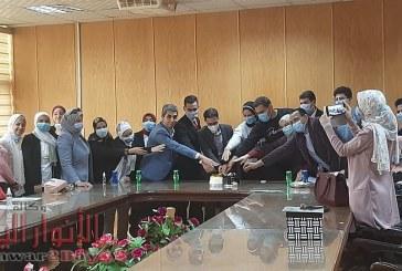 برعاية الدكتور منصور حسن رئيس الجامعة تنصيب اتحاد طلاب كلية الإعلام بجامعة بني سويف