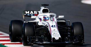 A Williams FW41 a barcelonai teszten