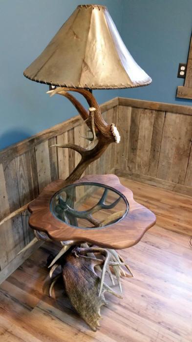 Custom antler lighting table lamps floor lamps