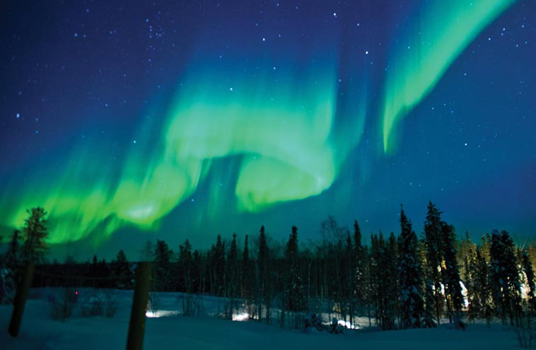 Map Northern Lights